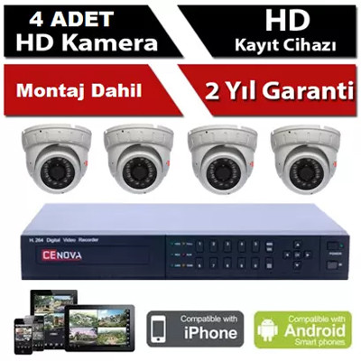 Kampanyalı 4 Kameralı Sistem