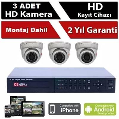 3 lü Bebek Kamera Sistemi