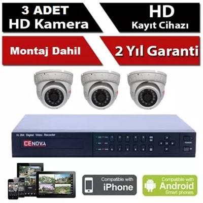 3 lü İP Kamera Sistemi