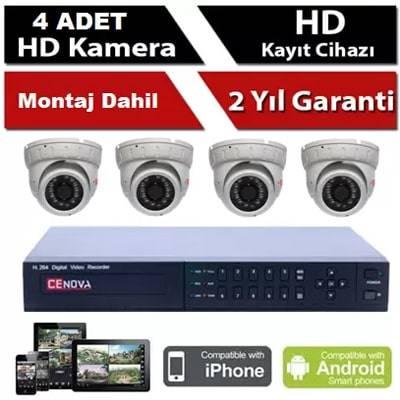 4 lü İP Kamera Sistemi