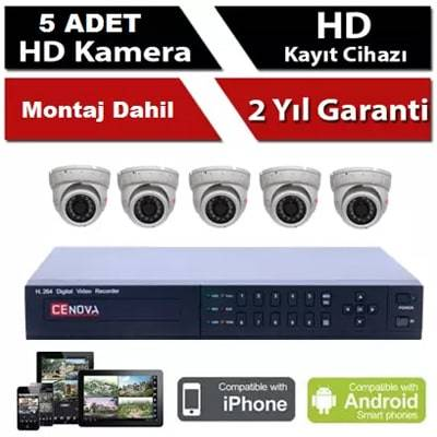 5 li İP Kamera Sistemi