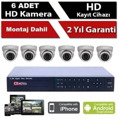 6 li İP Kamera Sistemi