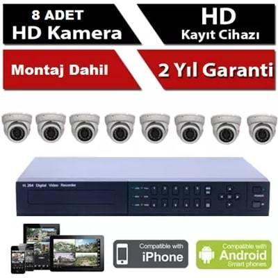 8 li HD Kamera Sistemi