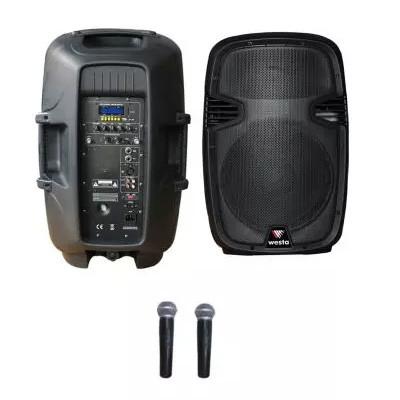 Westa 12 Bataryalı Aktif Kabin Hoparlör (2xVhf El Mikrofon)